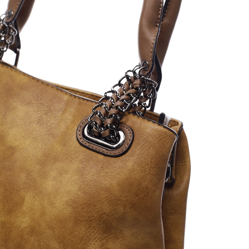 Módní dámská koženková taška Stacey žlutá