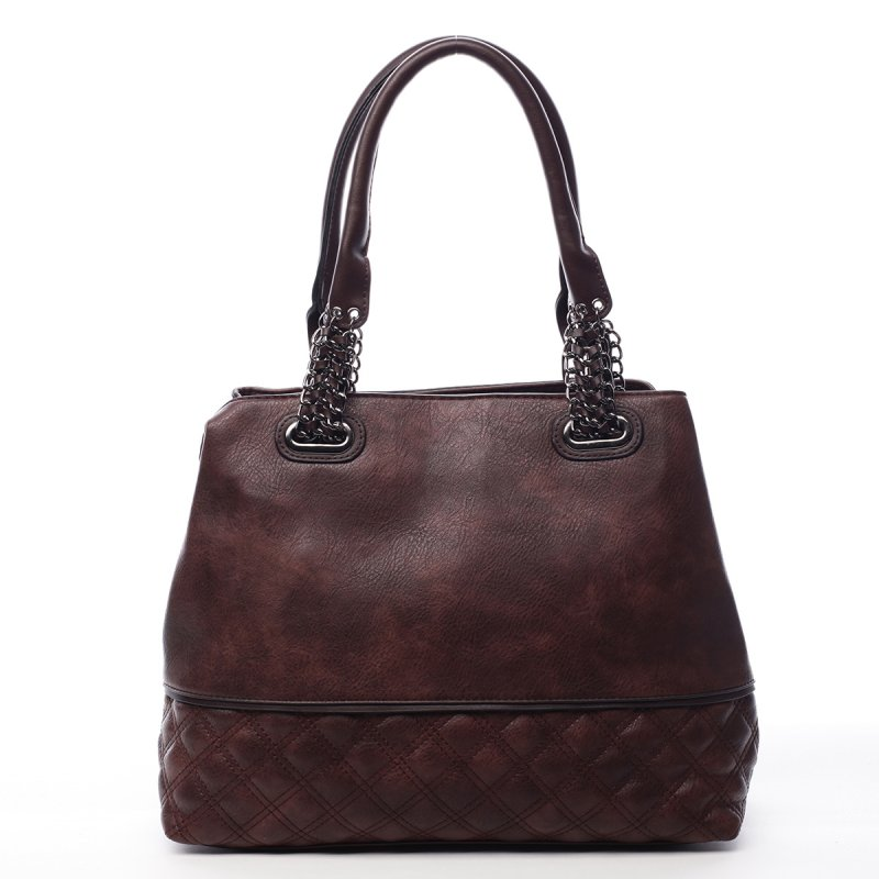 Módní dámská koženková taška Stacey vínová
