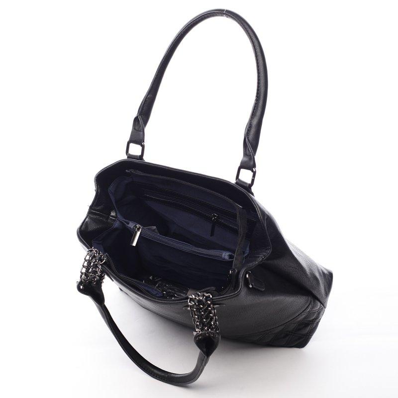 Módní dámská koženková taška Stacey černá