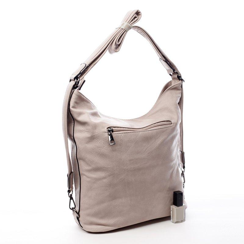 Dámská praktická koženková kabelka/batoh Milie růžová