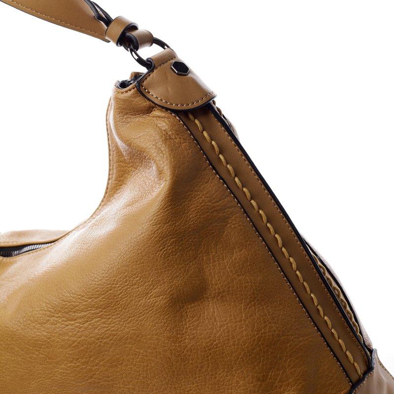 Dámská koženková praktická kabelka Bethan žlutá