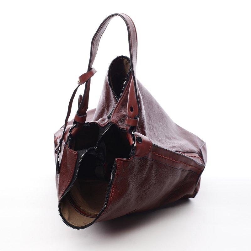 Dámská koženková praktická kabelka Bethan červená