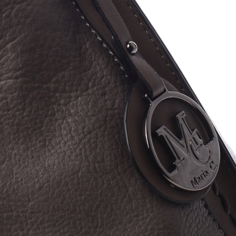 Dámská koženková praktická kabelka Bethan šedá
