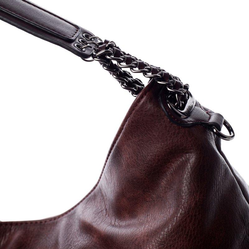 Módní dámská koženková kabelka Sasha vínová
