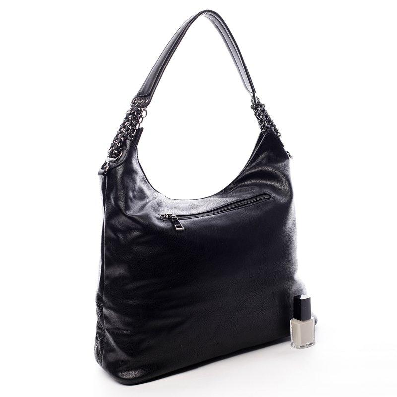 Módní dámská koženková kabelka Sasha černá