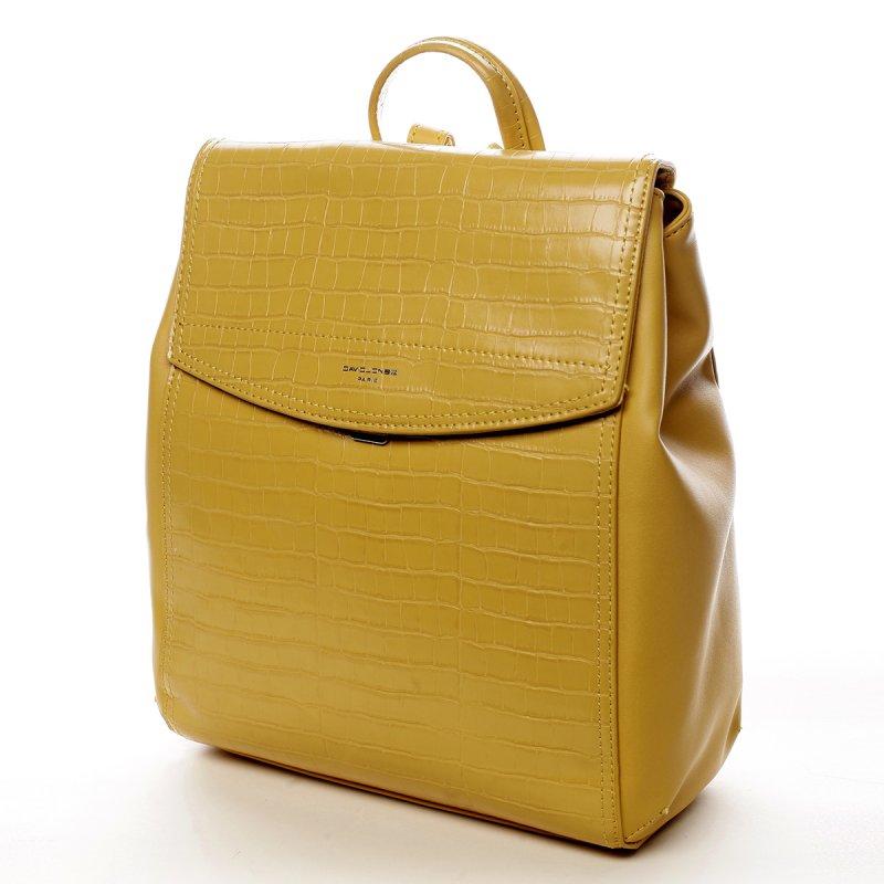 Módní městský batůžek Leanne žlutá