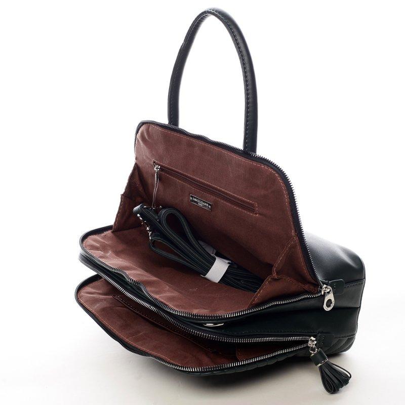 Desingová módní taška Rhianon tmavě zelená