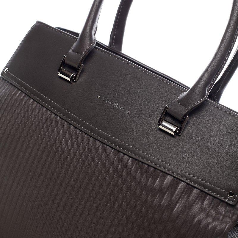Prostorná dámská taška Heather šedá