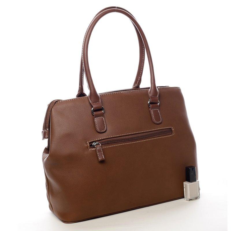 Prostorná dámská taška Heather hnědá