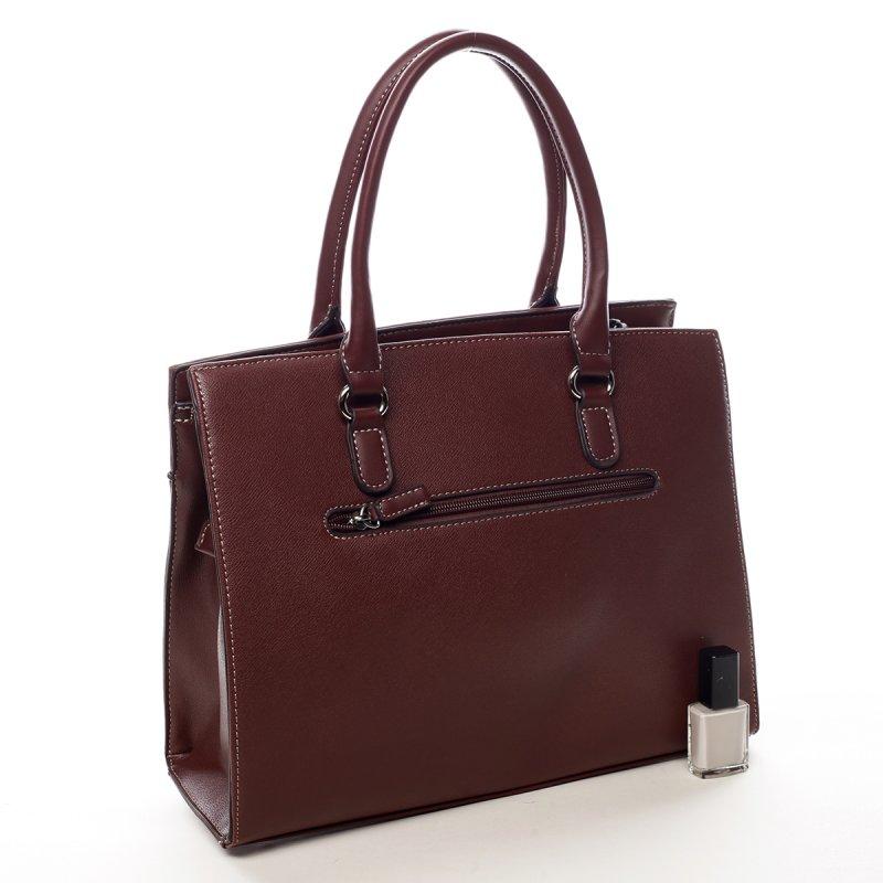 Krásná kufříková dámská kabelka Nicola vínová