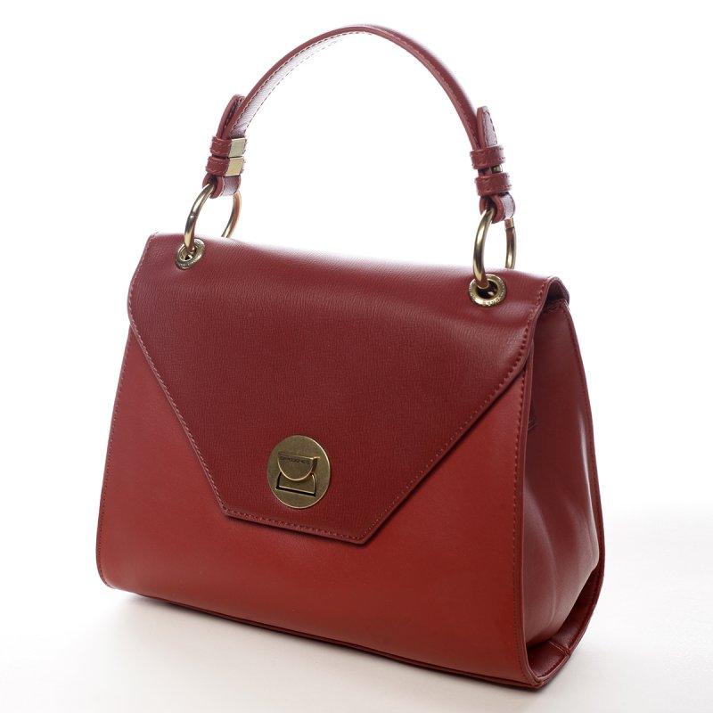 Pevná elegantní dámská kabelka Mia červená