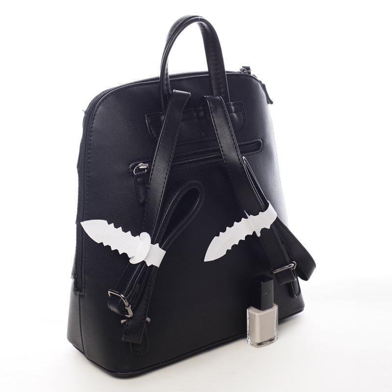 Dámský vzorovaný batůžek Rose černá