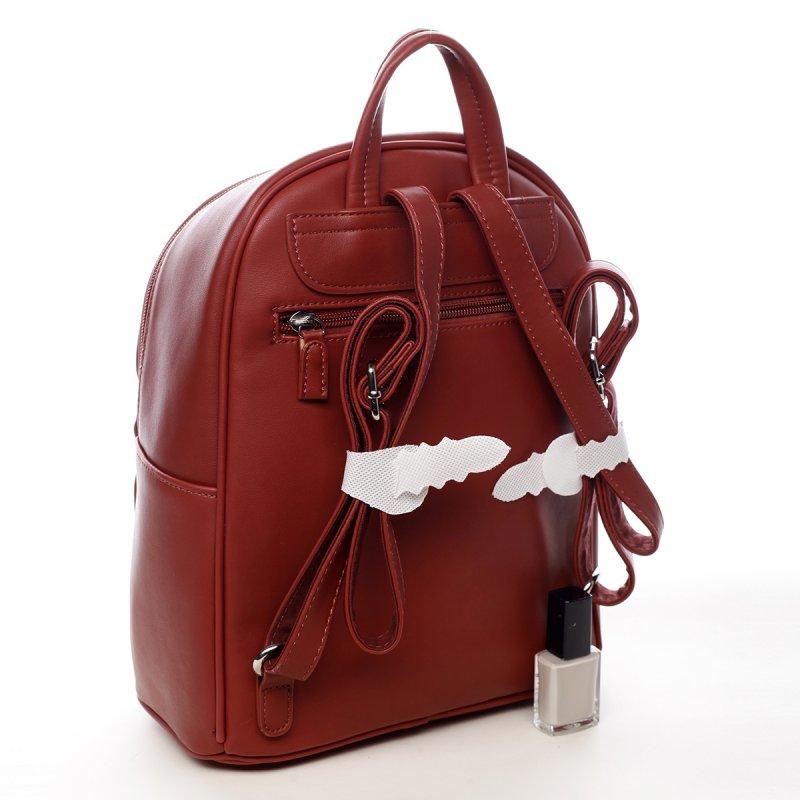 Stylový městský dámský batůžek Brigham červená