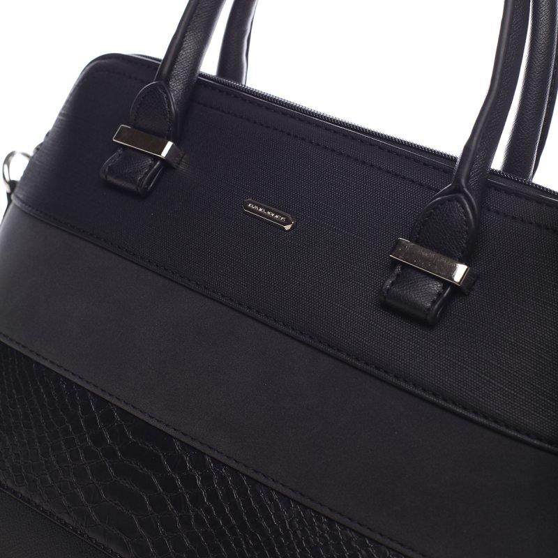 Hravá dámská koženková kabelka Marylin černá