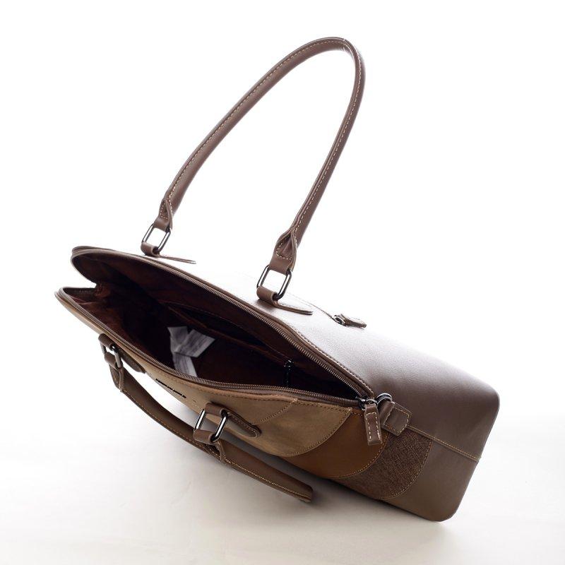 Nepřehlédnutelná dámská kabelka Elma hnědá