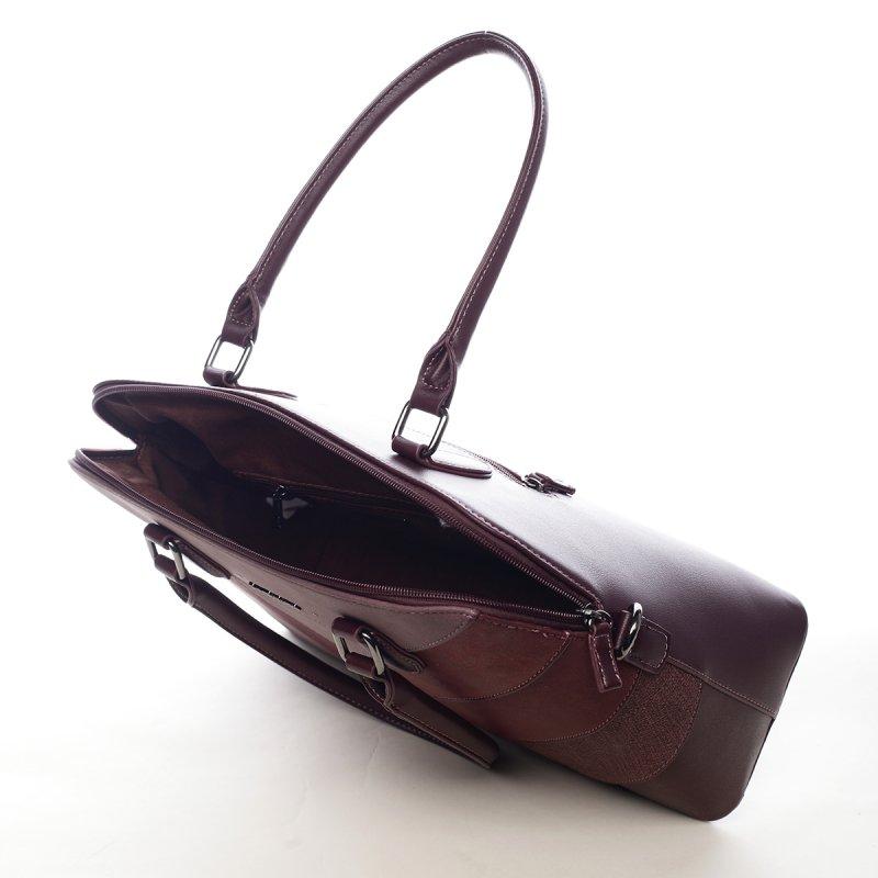 Nepřehlédnutelná dámská kabelka Elma vínová