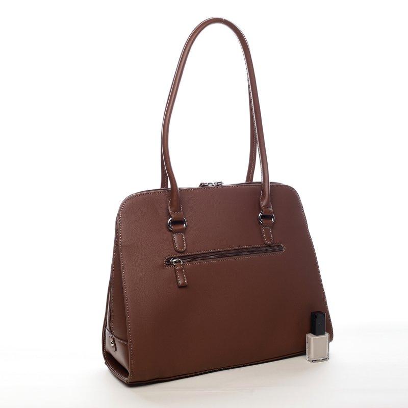 Praktická dámská kabelka Cari koňaková