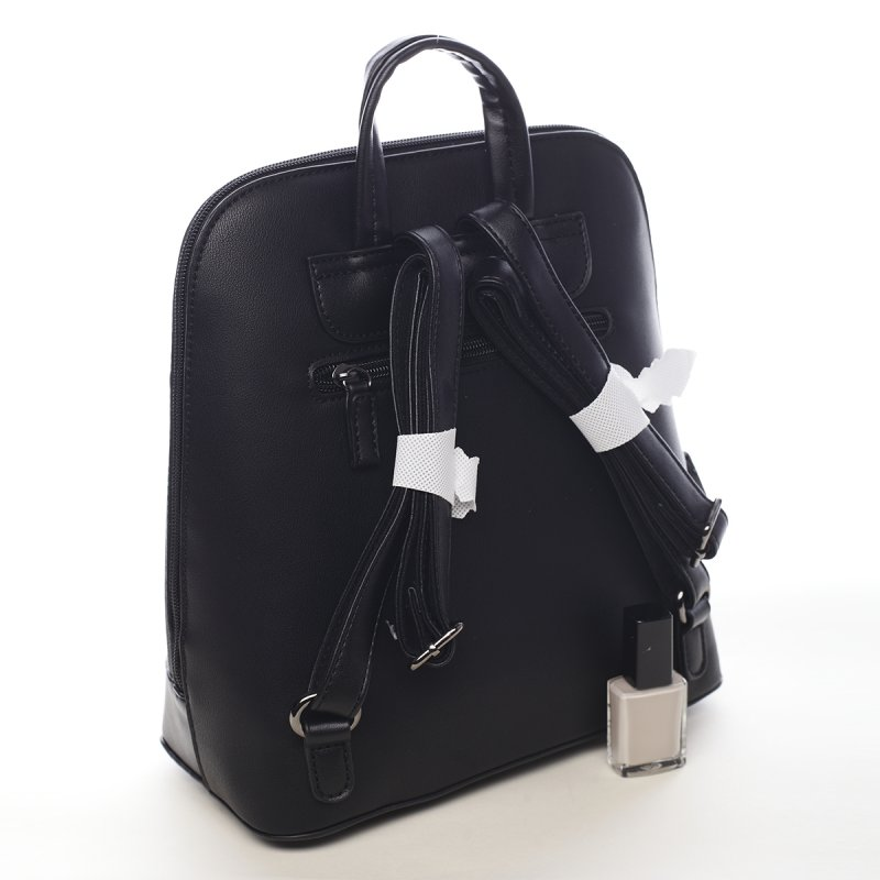 Stylový koženkový městský batoh Georgia černý