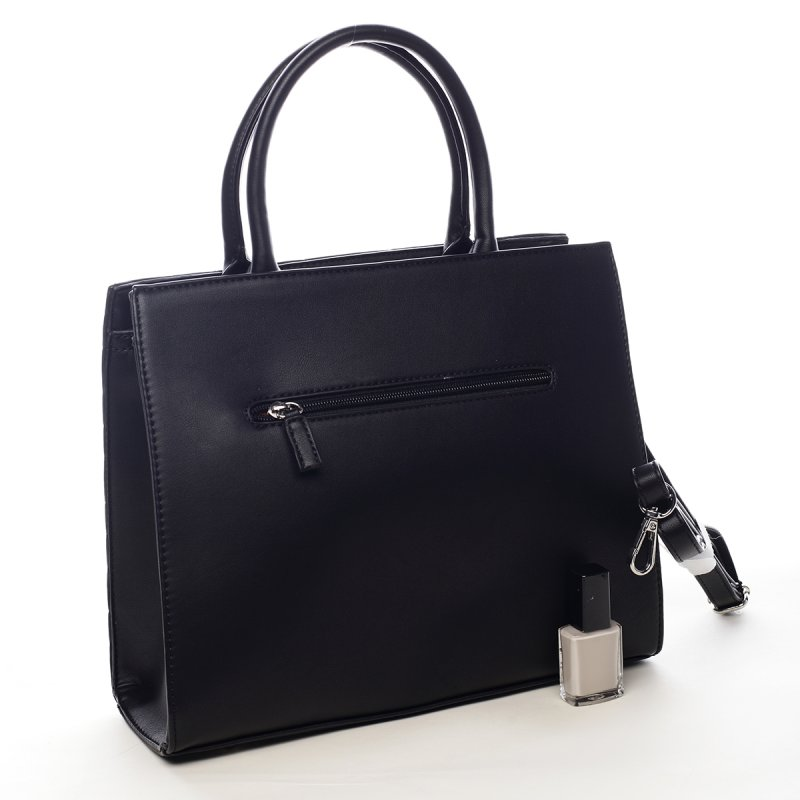 Luxusní dámská koženková kabelka Whitney černá