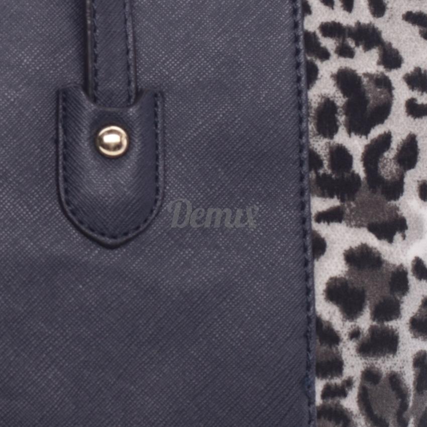 Dámská trendová kabelka Leo tmavě modrá