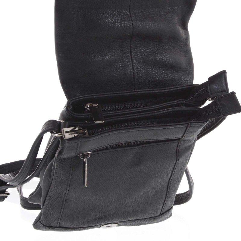 Pánská kožená taška James černá