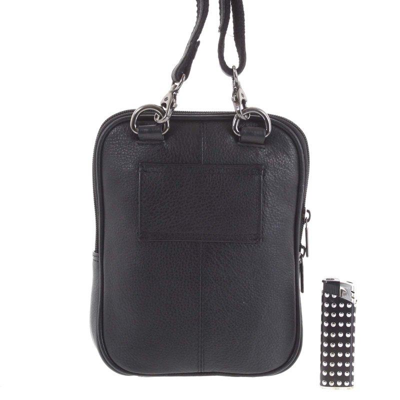 Kožená pánská taška Alex černá
