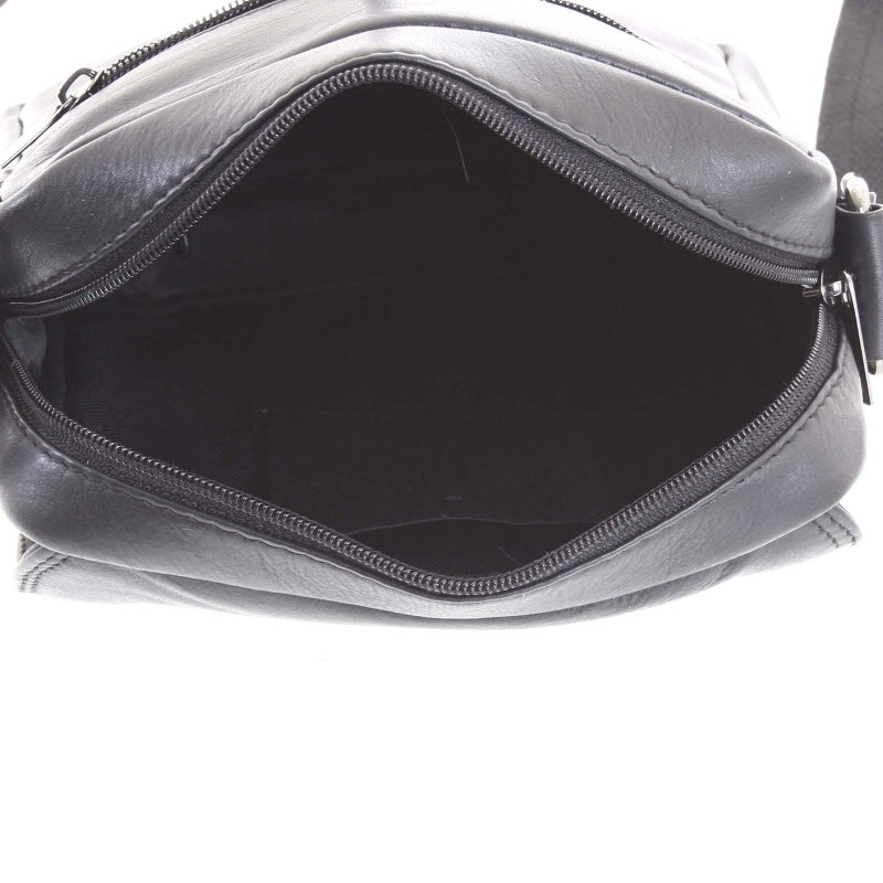 Praktická kožená pánská taška Tom černá