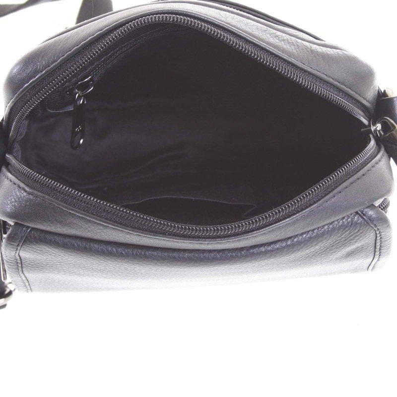 Praktická pánská kožená taška Adam černá