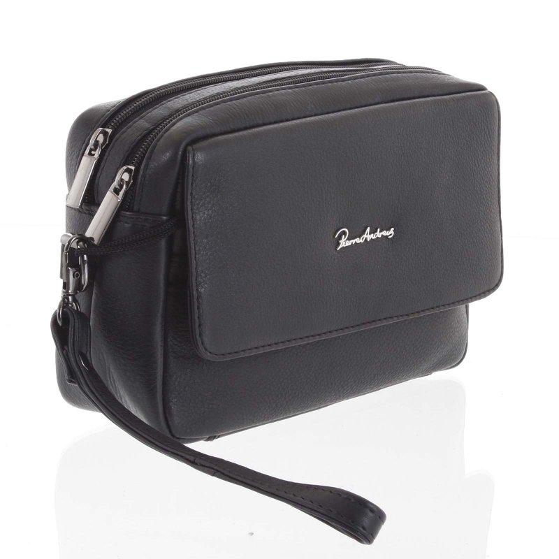 Kožená příruční taška Callum černá
