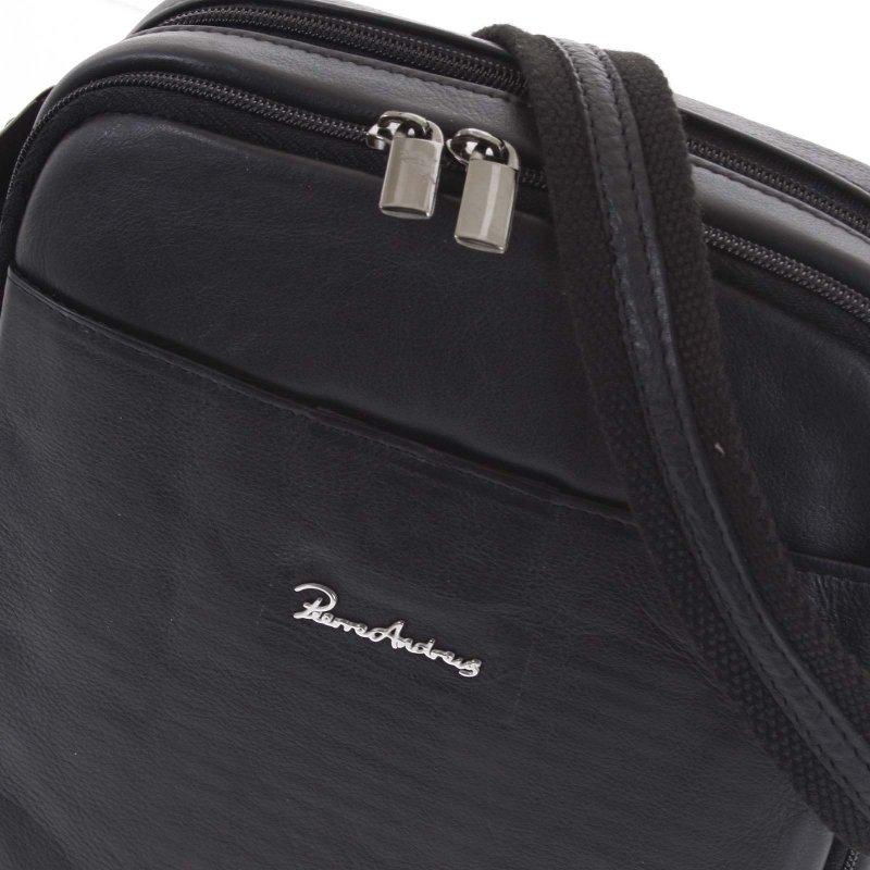 Praktická pánská kožená taška Joe černá