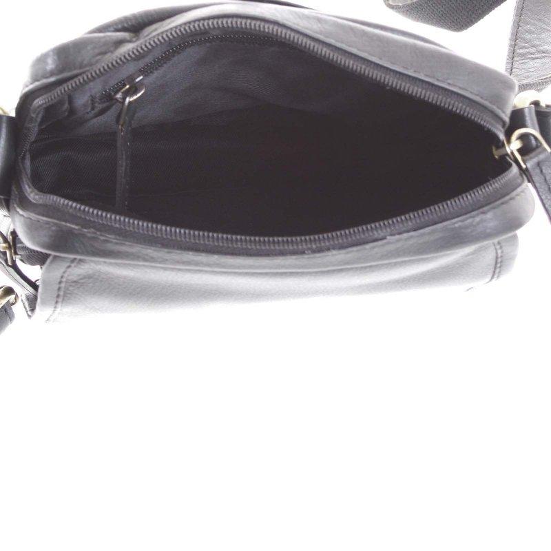 Universální pánská kožená taška Jamie černá