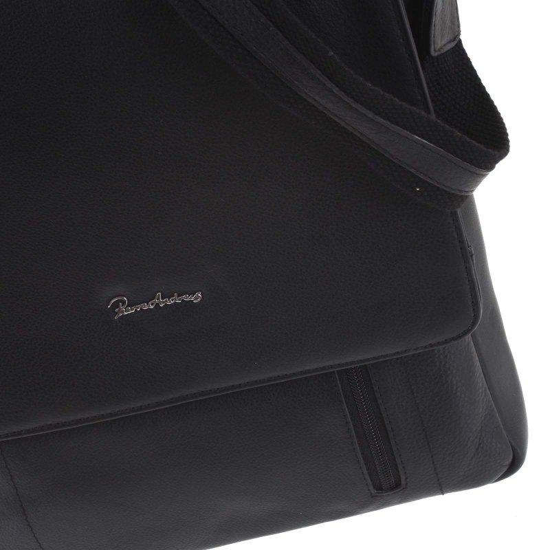 Velká pánská kožená taška Luke černá