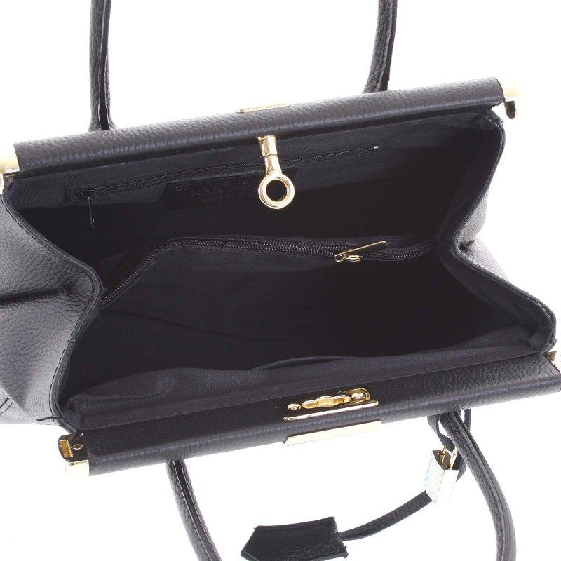 Luxusní dámská kožená kabelka Zina černá