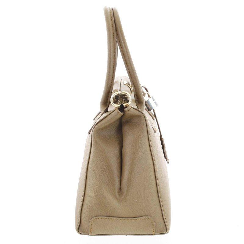 Luxusní dámská kožená kabelka Zina, béžová