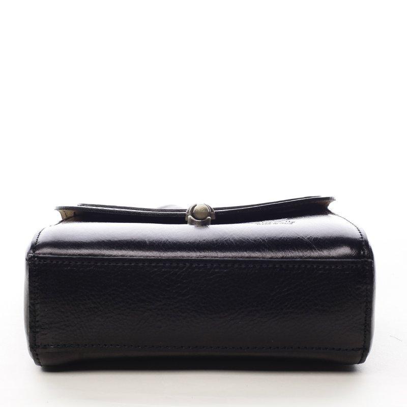Malá dámská kožená kabelka Milady, černá