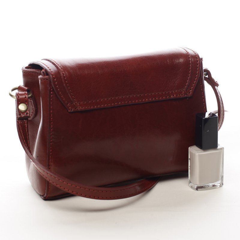Malá dámská kožená kabelka Milady červená