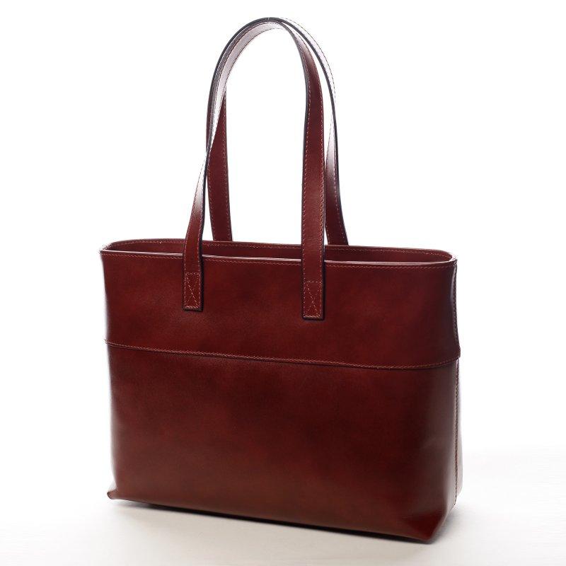 Velká dámská kožená kabelka Vivien červená