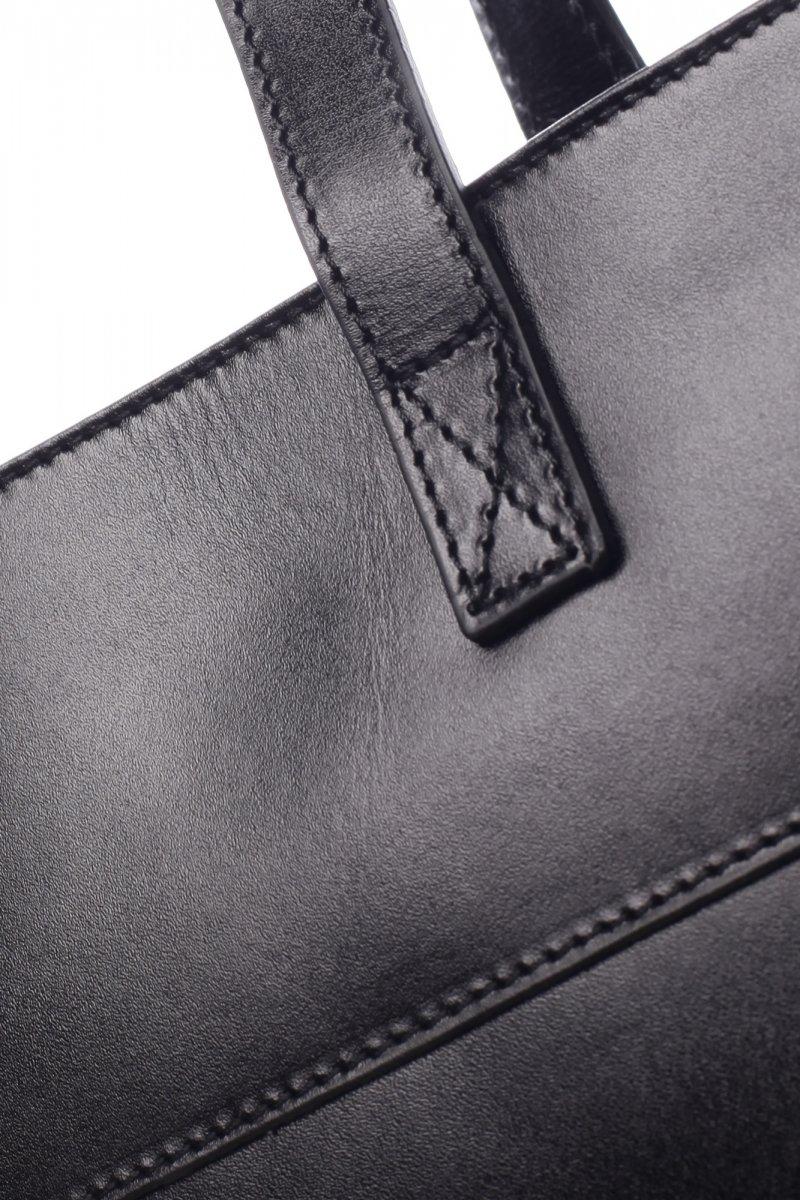 Velká dámská kožená kabelka Vivien černá