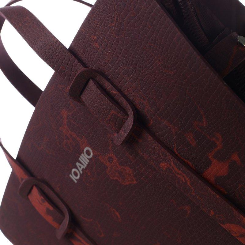 Fascinující dámská italská kabelka Rolanda IOAMO vínová