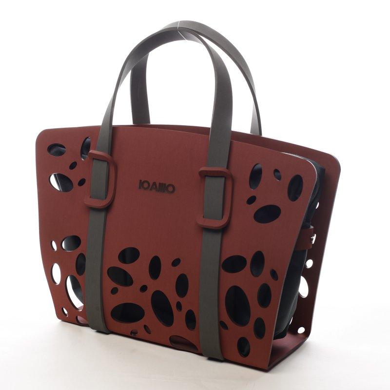 Poutavá dámská italská kabelka Bedaro Ioamo vínová