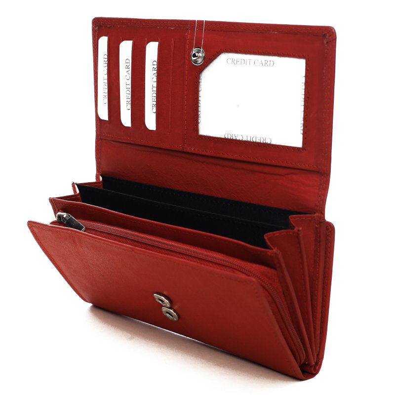 Praktická dámská kožená peněženka Radúza červená
