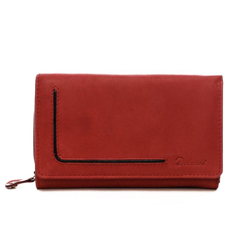 Praktická dámská kožená peněženka Lucía červená