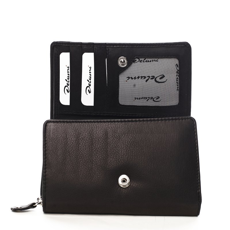 Praktická dámská kožená peněženka Lucía černá