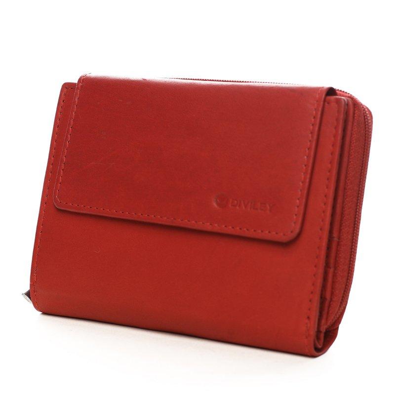 Menší dámská kožená peněženka Susi červená
