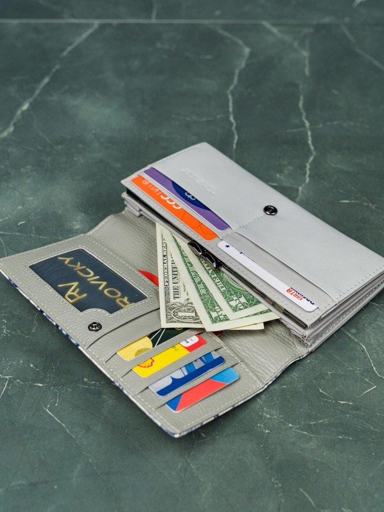 Elegantní dámská delší peněženka Dea, šedo-bílá