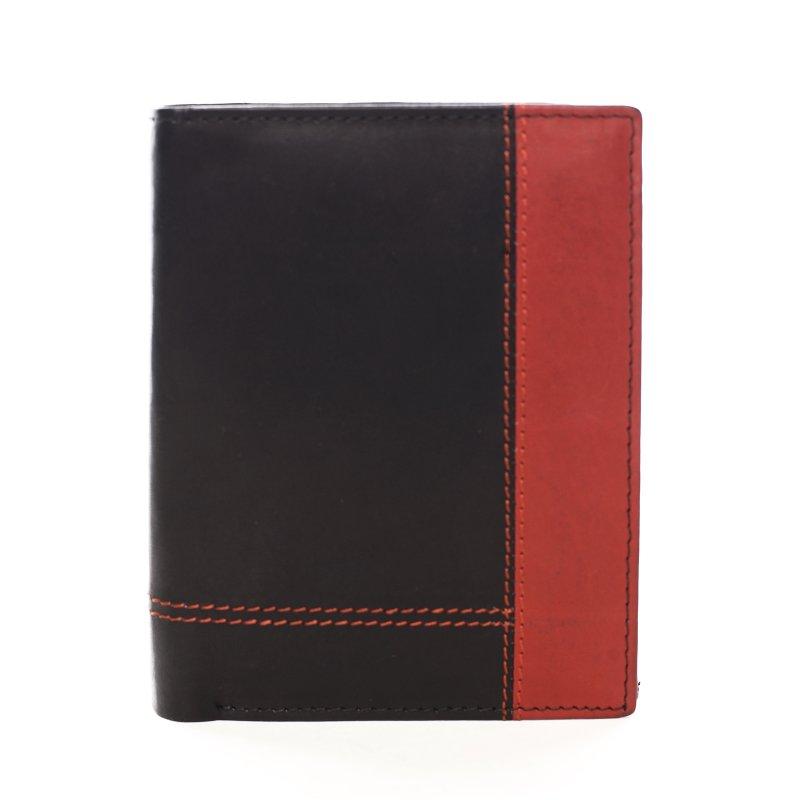 Pánská kombinovaná peněženka Simon černá/červená