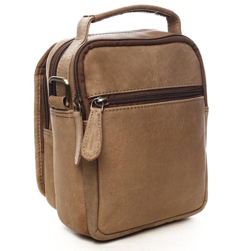Elegantní kožená pánská taška Timothy hnědá
