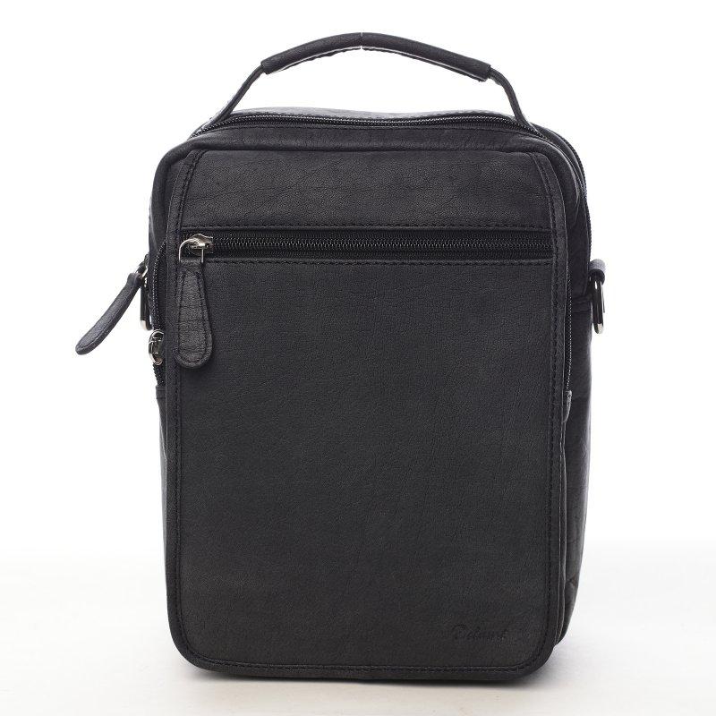 Elegantní kožená pánská taška Tin černá