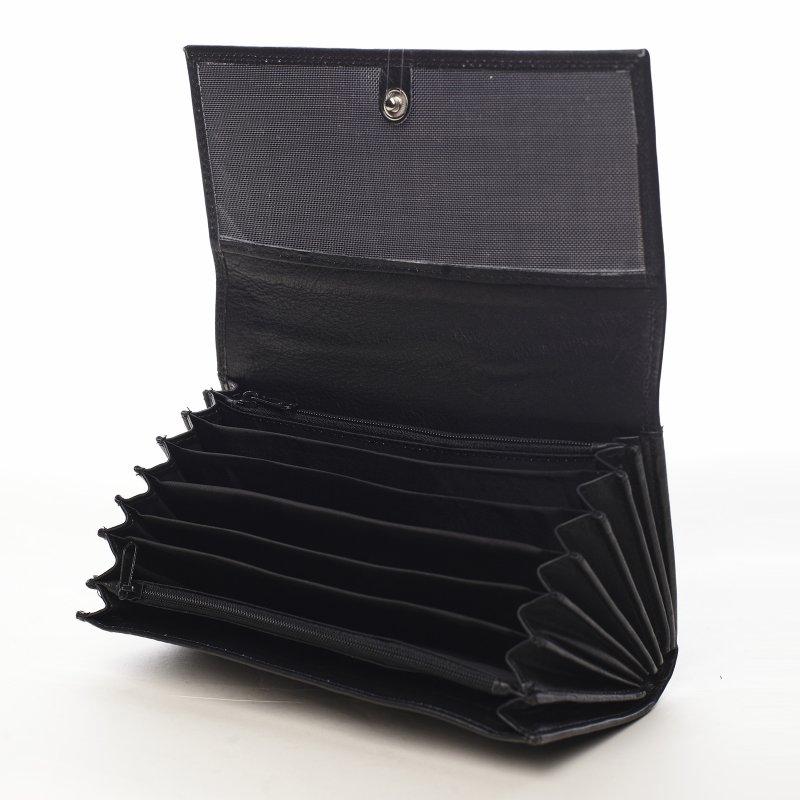 Kožený pánský číšnický flek Bary černý