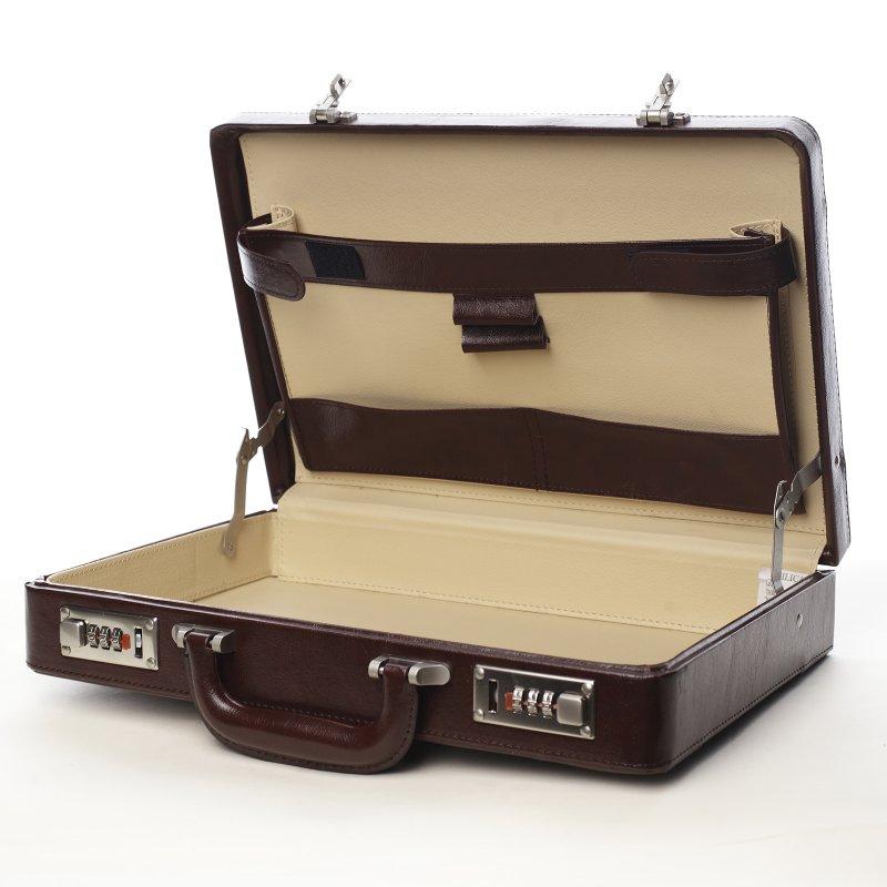 Diplomatický kufřík attache Timo větší hnědý